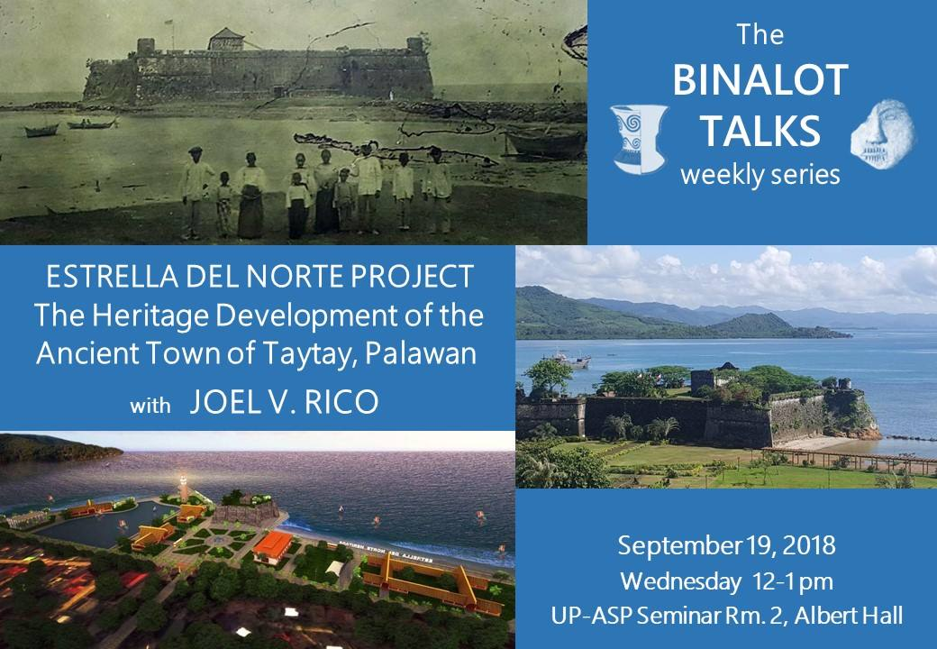 Binalot Talk on Sept 19, 2018